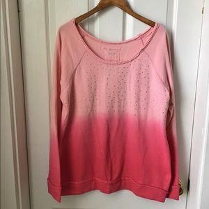 Maurice's scoop neck sweatshirt/pink Plus Size 1